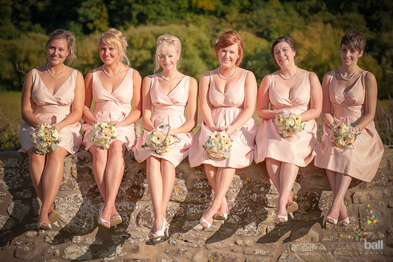 Orange Blush bridesmaids